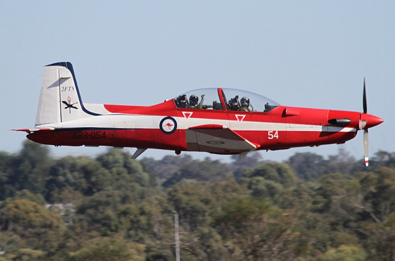 Pilatus PC-9/A of RAAF 2 FTS performing the solo PC-9 display during the RAAF Pearce Air Show 2012. Photo: Keith Anderson.